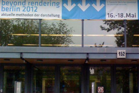 Beyond Rendering Conference venue at TU Berlin