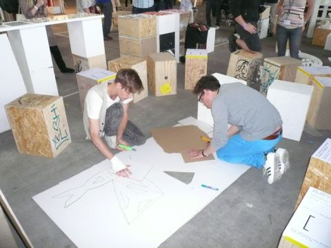 Making of a prototype with cardboard