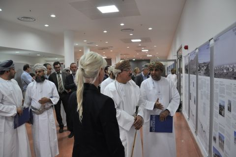 Exhibition opening by the Omani Minister of Housing