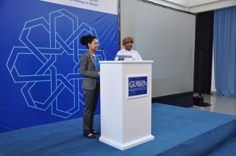 Sara Abdelaal and Dr. Hamad Al Gharibi