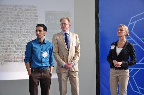 Yassine Moustandiji, Arnd Baetzner and Dr. Lucia Reisch