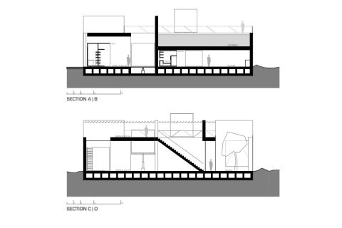 Section through the house
