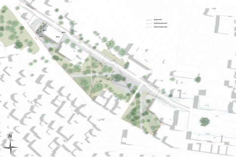 Site plan and park