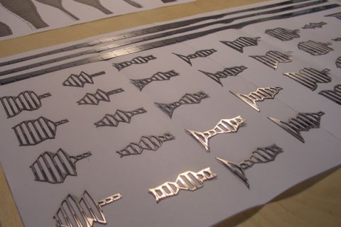 Laser-cut stainless steel (2002!)