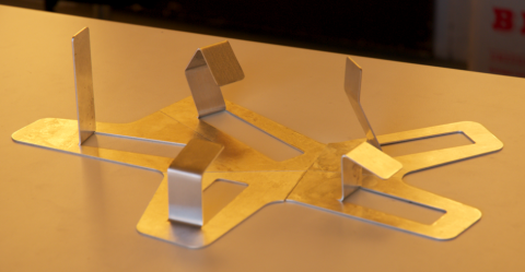 raw physical model, folded aluminum