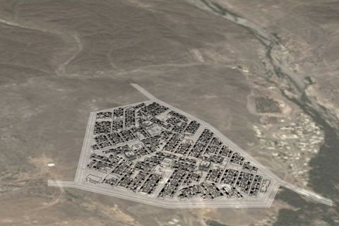 Compact City model for Oman - location Al Khoudh