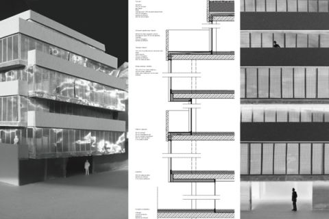facade study and materialization