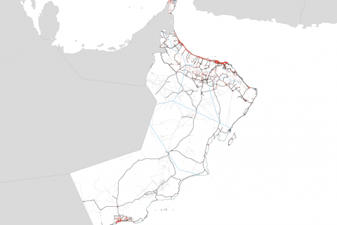 Urbanization in Oman 2013