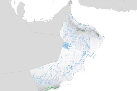 Agricultural land-use and natural features in Oman